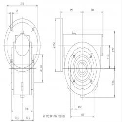 Steigentech tandriem z   233 -699 mm ISO  699-3M